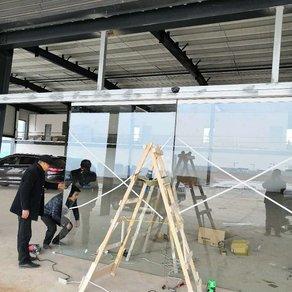 龙泉自动门,龙泉工业区新工地自动门案例